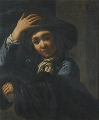 portrait of a boy in a hat by bernhard keil