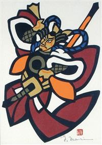 a warrior by mori yoshitoshi