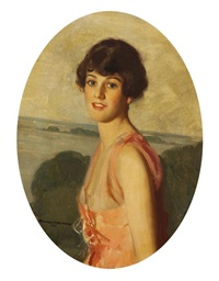 portrait of mrs. lawrence tibbits by howard renwick