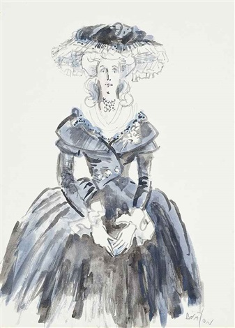 costume design for the countess of codlington studies of the countess of codlington wearing a pink dress 2 works by cecil beaton
