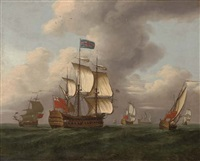 a squadron of the red at sea by samuel scott