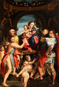 madonna di san giorgio (after correggio) by domenico mona
