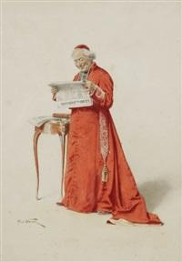 cardinal lisant le journal l'écho du paradis by alfred weber