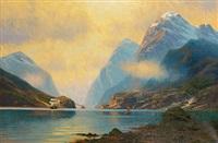 sommerliche fjordlandschaft by johannes harders