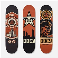 skateboard decks (set of 3) by shepard fairey