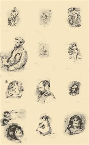 douze lithographies originales de pierre auguste renoir 12 works by pierre auguste renoir