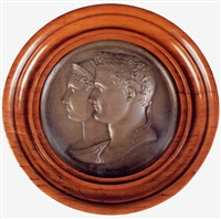 portrait busts of napoleon and josephine by jean-bertrand andrieu