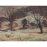 winter landscape by frederick lester sexton