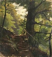 aufgang unter bäumen by conrad reinherz
