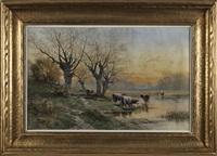 bucolic landscape by carl weber