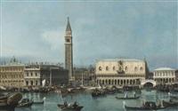 venice, view of the molo from the bacino di san marco by bernardo bellotto