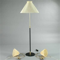 standard lamp (+ bracket lamps; set of 3) by le klint