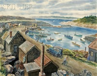 pigeon cove harbor by lionel s. reiss