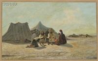 desert encampment by françois lauret