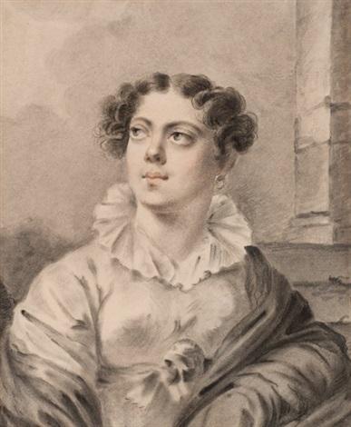 portrait of a woman by alexander molinari