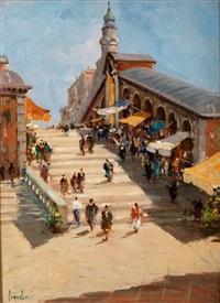 die rialtobrücke in venedig by cesare vianello