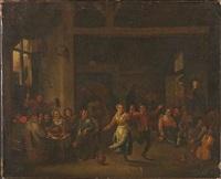 ein bauernfest in einer taverne by ferdinand van apshoven