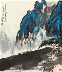 牧牛图 by liang shunian