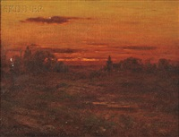 golden sunset by john joseph enneking