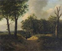 a traveller on a woodland path by patrick nasmyth