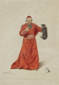 cardinal au chat by alfred weber