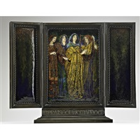 in praise of womanhood (triptych) by alexander fisher