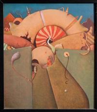 ohne titel (surrealistische komposition) by leopold peer