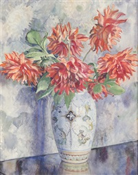 nature morte aux dahlias by adrien gogler