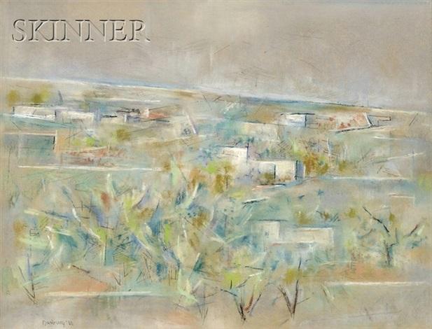 pueblos in spring by andrew michael dasburg