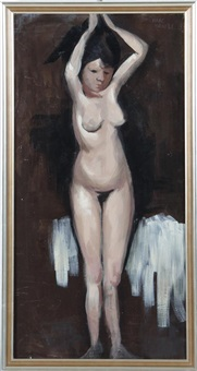 standing nude by isaac israels
