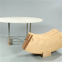 pk-54 dining table with additonal leaves by poul kjaerholm