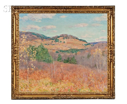 purple and gold a vermont landscape by willard leroy metcalf
