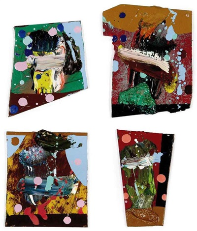 untitled 500 paintings for witte de with set of 4 various sizes by fiona rae