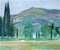 landschap, mogelijk in de buurt van menton by dirk filarski
