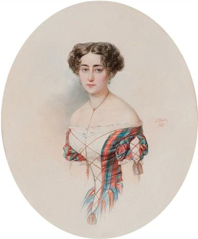 portrait of a young woman by vladimir ivanovich hau
