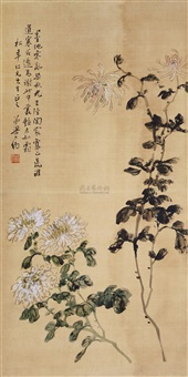 菊花图 (flower) by liang gongyue