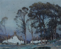 twilight at a cornish hamlet by a. moulton foweraker