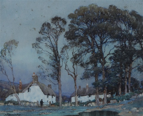 twilight at a cornish hamlet by a moulton foweraker