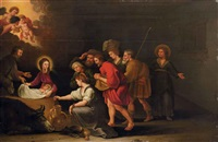 l'adoration des bergers by isaak hondius