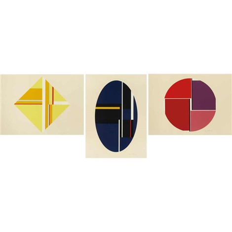 triptych by ilya bolotowsky