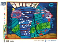 flucht ins all (from look at it on a rainy day) by friedensreich hundertwasser