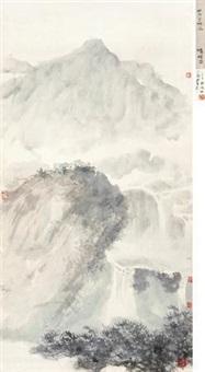 松泉烟雨 by fu baoshi