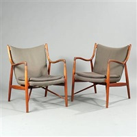 fj 45 easy chairs (pair) by finn juhl