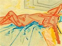 reclining girl by wilhelm freddie