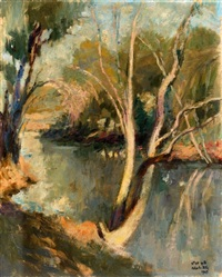 the yarkon stream by zvi adler