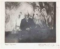 paul cézanne, portrait dans l'atelier devant les grandes baigneuses, aix-en-provence by émile bernard