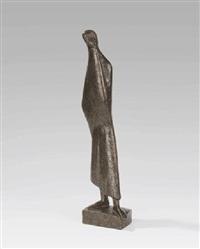 stehende verhüllte frau in tripolis (tripoli ii) by emy roeder