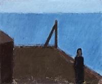landscape with man by johannes hofmeister