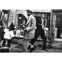 new york, blacks & pepsi, harlem by william klein