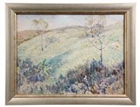 impressionist spring landscape by edmund f. ward